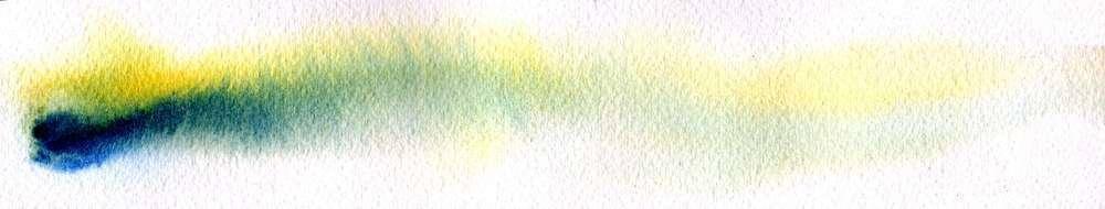 Deux tons sur zone humide, utilisation de deux pigments transparents