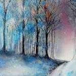 Peindre un arbre en hiver à l'aquarelle