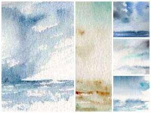 Plusieurs exemples de ciels maritimes