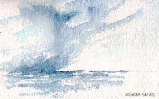 Un ciel maritime dynamique