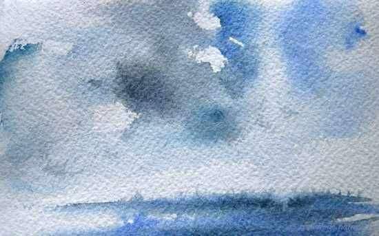 Un effet de nuage dans un ciel maritime